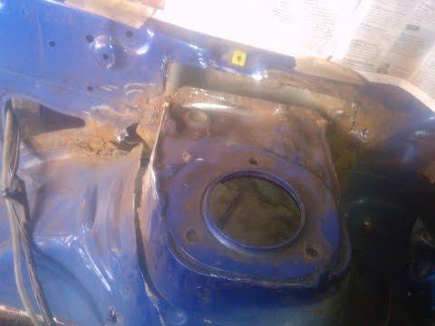 Subaru сгнили арки. Сварка.Усиление стаканов. (часть1)