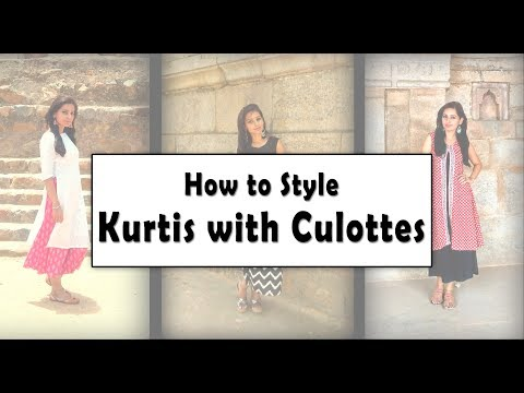 How to style Culottes with Kurtis | Indian Ethnic Wear Lookbook | ft. Mukta