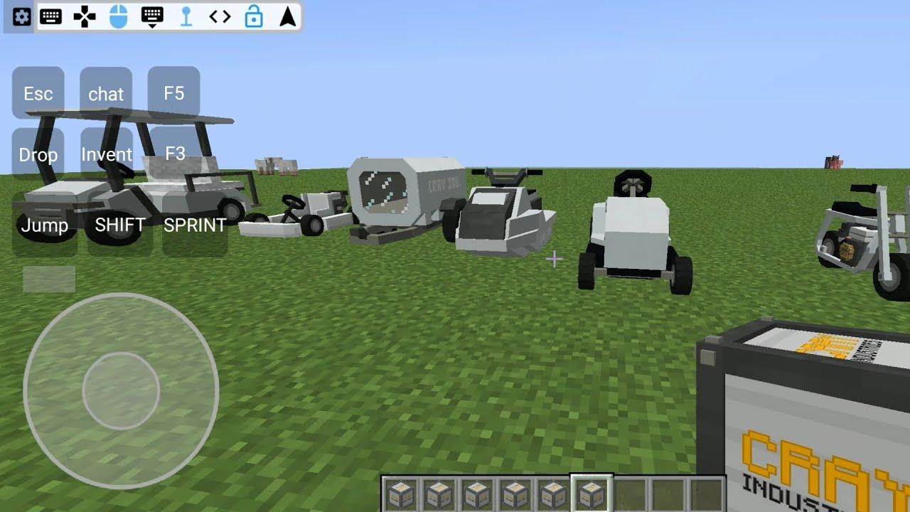 MINECRAFT CAR MOD ON ANDROID MCINABOX YouTube