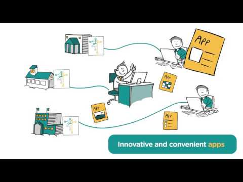 Animation about sharing education data through the Open Education API