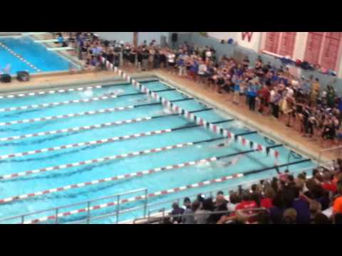 Beata Nelson DESTROYS 100 Back-Stroke State Record Wisconsin Girls State 2012