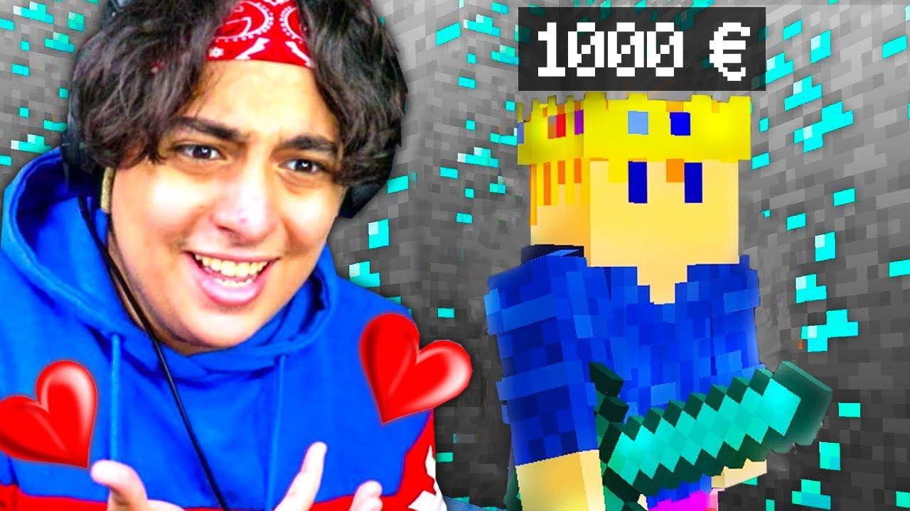 Minecraft mais tu gagnes 1000€ à chaque diamant miné !