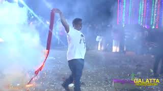Huge Crackers Mirattum Mersal Celebrations by Thalapathy Fans