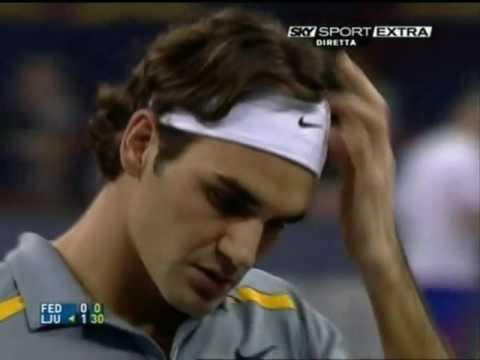 Federer vs Ljubicic - Shanghai (Tennis Masters Cup) 2006 RR