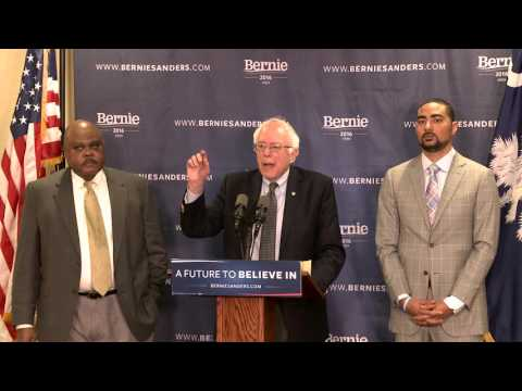 Poverty Press Conference in South Carolina | Bernie Sanders
