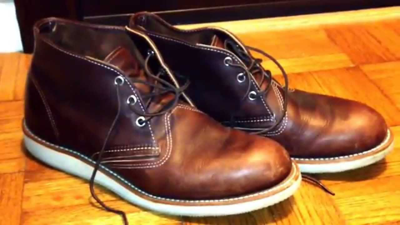23e35d2a54f992 RED WING CHUKKA HERITAGE BOOTS - YouTube