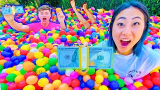 EXTREME $10,000 DOLLAR BALL PIT POOL CHALLENGE!!