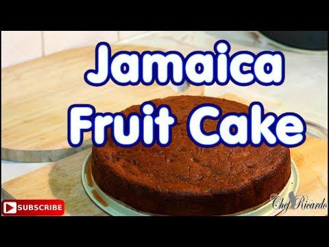 Real Jamaica fruit cake / CARIBBEAN CHRISTMAS CAKE BLACK CAKE !!