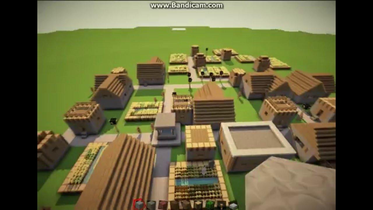 Minecraft 18819 Large Village Seed Super Flat Youtube