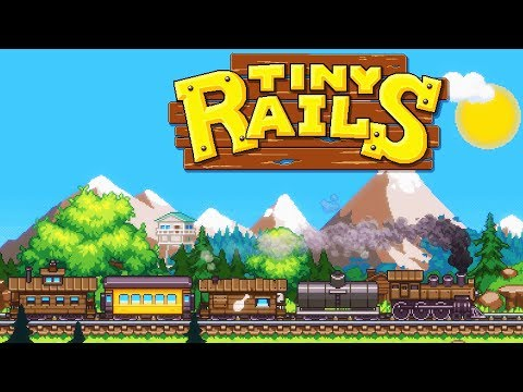 Building the BEST TRAIN!  Fun New Train Management TYCOON Game (Tiny Rails Part 1 - Train Tracks)