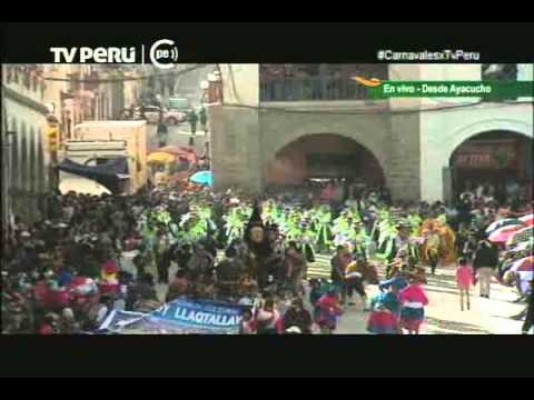 Así se celebra el Carnaval Ayacuchano 2015: Video de la transmisión de TV Perú
