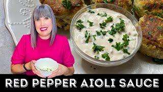 Red Pepper Aioli Sauce Recipe | Garlic Aioli Sauce | How To Make Aioli Sauce