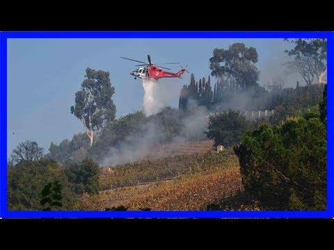 Rupert murdoch's vineyard estate hit as wildfire sweeps through bel-air