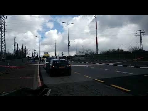 זירת פיגוע הירי בצומת אריאל (צילום: יפעת אריאלי בלב החדשות)