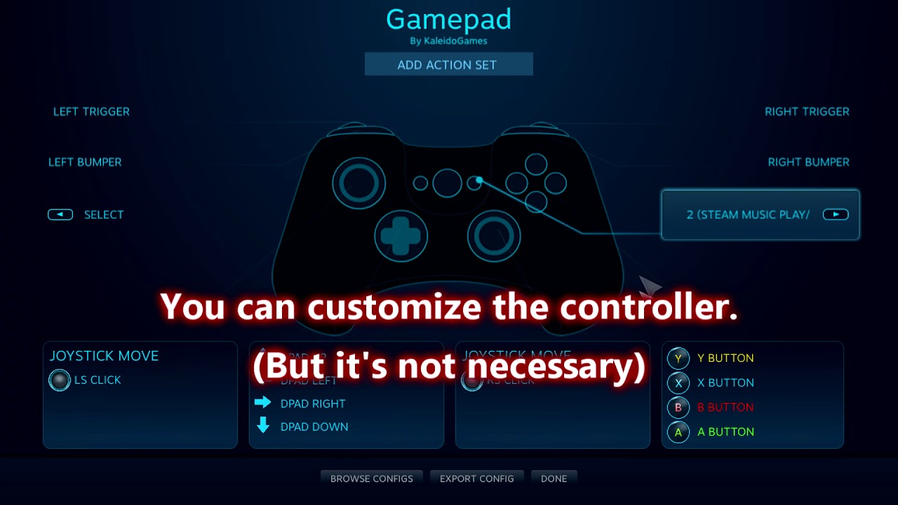Use any controller with any Steam game