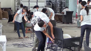 Poly Rattan Furniture - Skillful Weaving