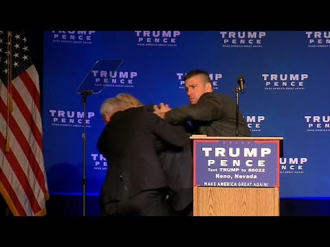 Donald Trump rushed off stage at campaign event