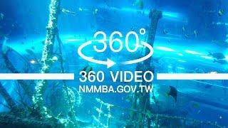 海生館VR360度影片:珊瑚王國館-海底隧道沉船區