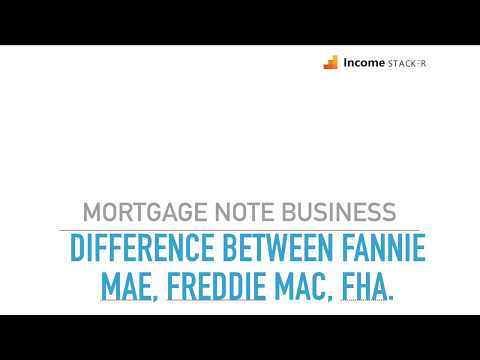 Difference Between FannieMae, FreddieMac and FHA