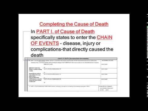 Completing the Nebraska Death Certificate - Presented for Physicians ...