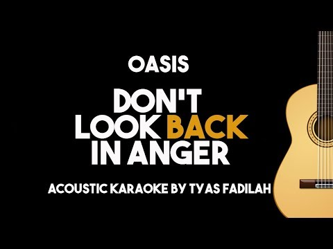Don't Look Back in Anger - Oasis (Acoustic Guitar Karaoke Backing Track with Lyrics)