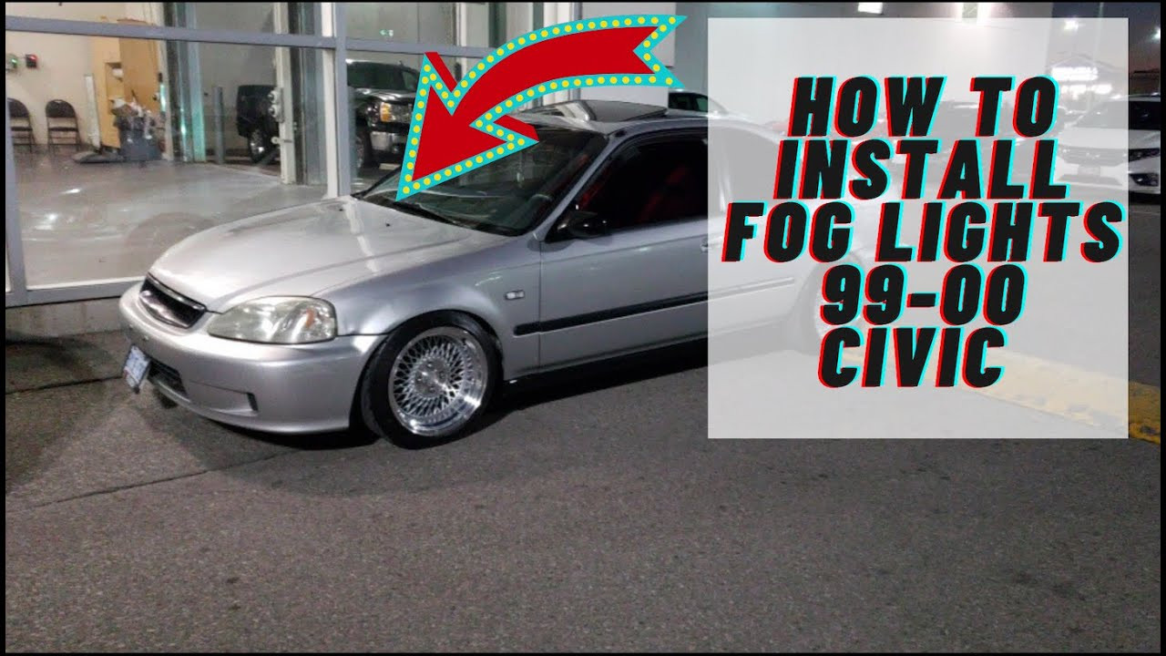 how to install fog lights 99 00 honda civic [ 1280 x 720 Pixel ]
