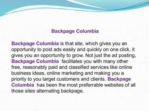 Backpage Columbia Back Page Columbia