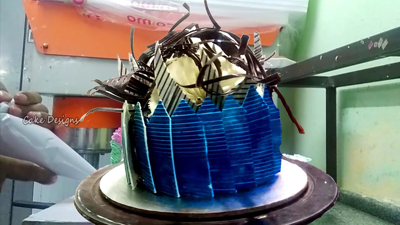 How To Make a Chocolate Cake Design? Birthday Chocolate Molds Decorations Video | Cake Designs