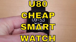 U80 Review - Cheap Bluetooth Smartwatch for Android Phones - £5 from Aliexpress, Gearbest & Amazon