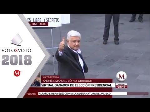Entrevista a Andrés Manuel López Obrador, ganador a la Presidencia