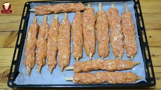 EV FIRININDA MÜKEMMEL ADANA TAVUK KEBAP TARİFİ (Adana Kebab Recipe)