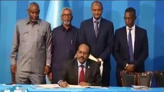 Madaxweynaha Somalia Mudane M. Farmajo sharciga