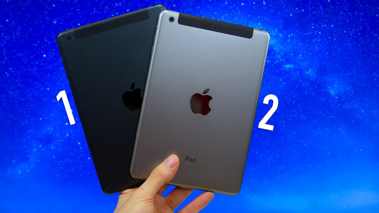 iPad mini vs iPad mini with Retina Display! (iPad mini 1 ...