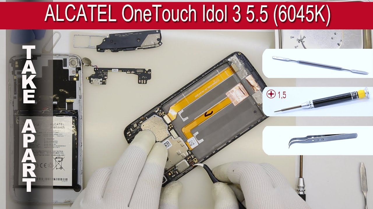 How to disassemble 📱 ALCATEL OneTouch Idol 3 5 5 (6045K/6045Y) Take apart  Tutorial