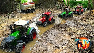 BRUDER RC TRACTORs Stuck In #Mud! Action video for kids
