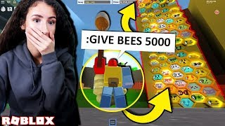 my girlfriend was Onett the OWNER of bee swarm simulator for a DAY, she did this.. (roblox trolling)