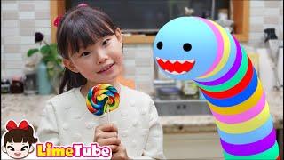 라임집에 먹보벌레가 나타났어요2 | 웃긴영상 LimeTube toy review