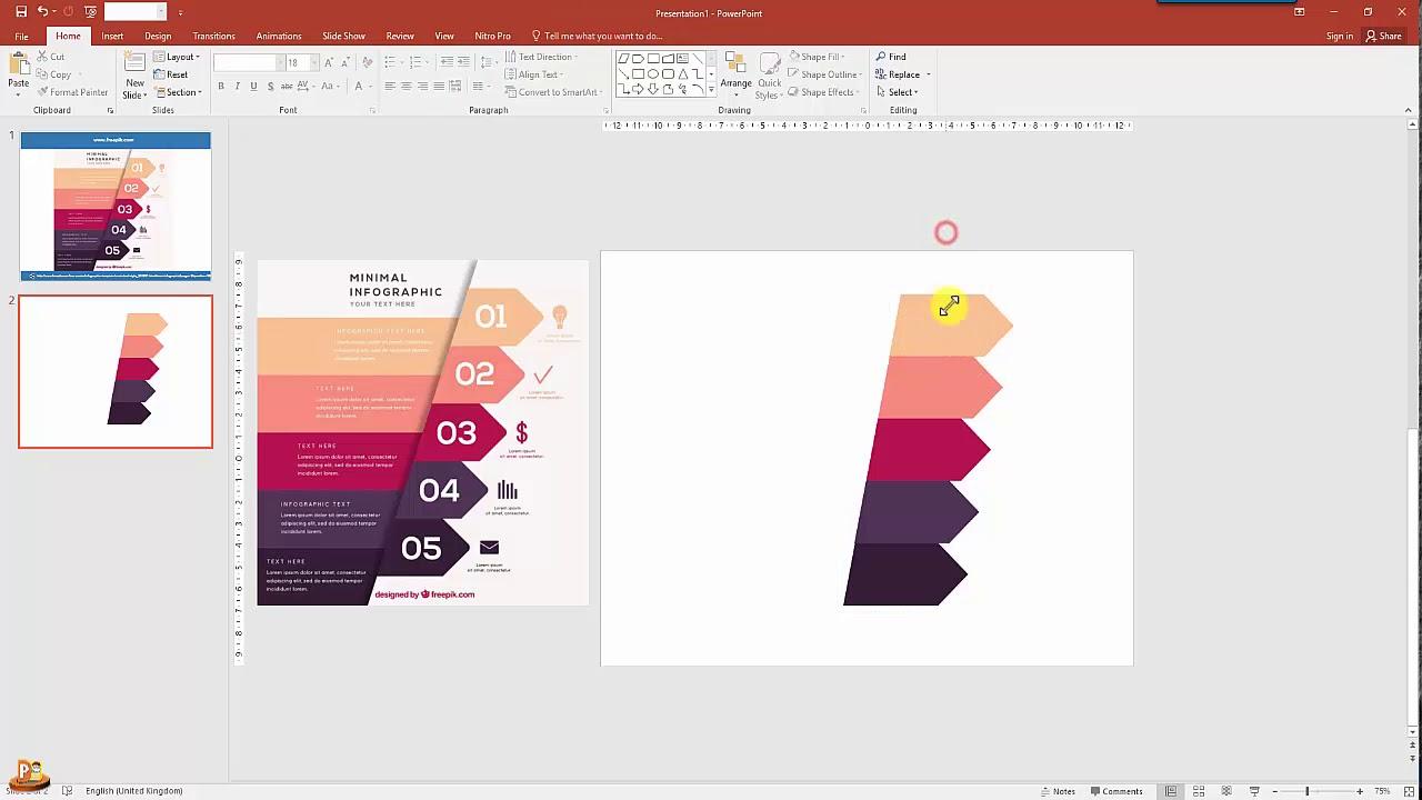 ต วอย างการทำ powerpoint style infographic ex 3 อธ บายท ละข นตอน