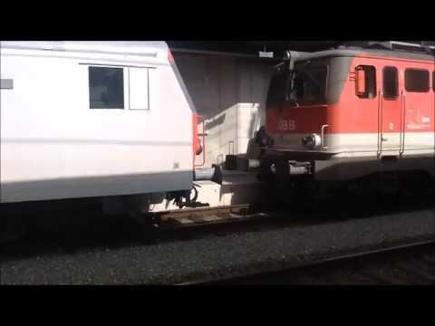 Zugverkehr in Bruck/Mur am 22.04.2014