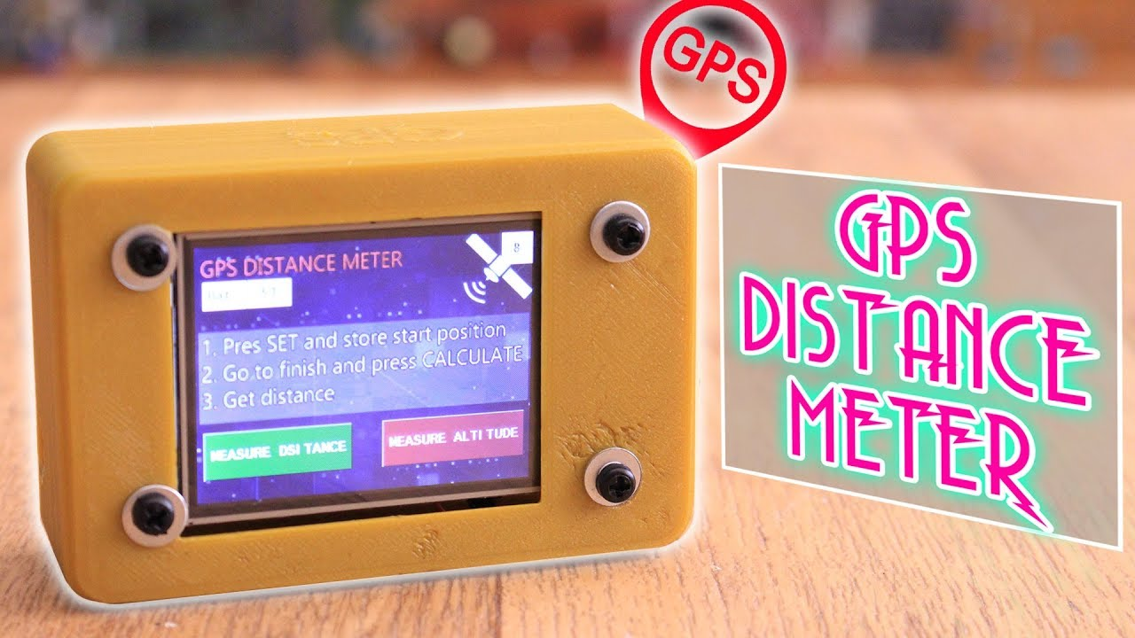 GPS distance meter with Arduino and TFT display touchscreen