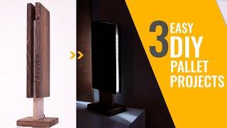 DIY LED Pallet lamp