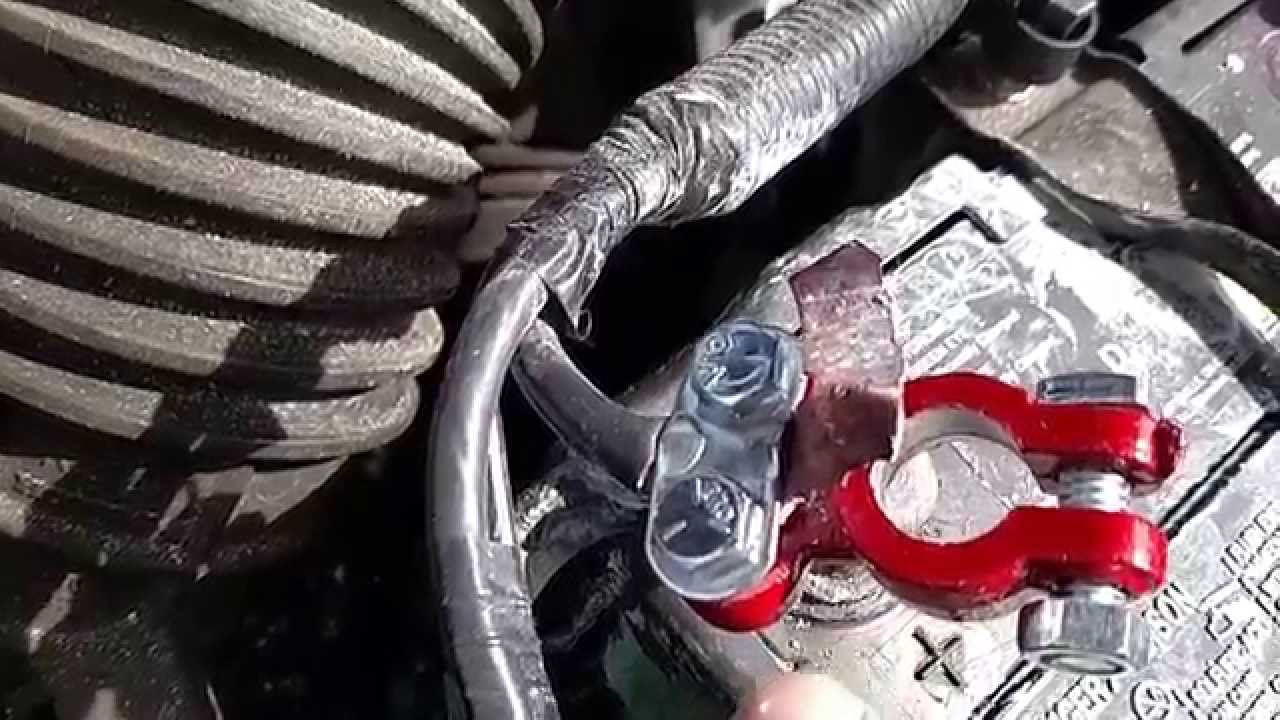 small resolution of battery terminal clamp replacement honda crv wiring harness fix youtube