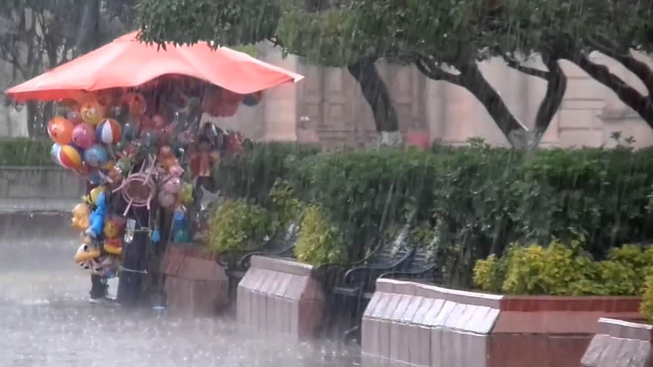 Tarde con lluvia en el Jardin de San Luis de la Paz - YouTube