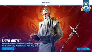 "NEW ""SHIFU"" SKIN in Fortnite Battle Royale! - Fortnite Item Shop LIVE (January 26th, 2020)"