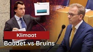 Baudet vs Bruins (CU) in Klimaatdebat: de grafieken