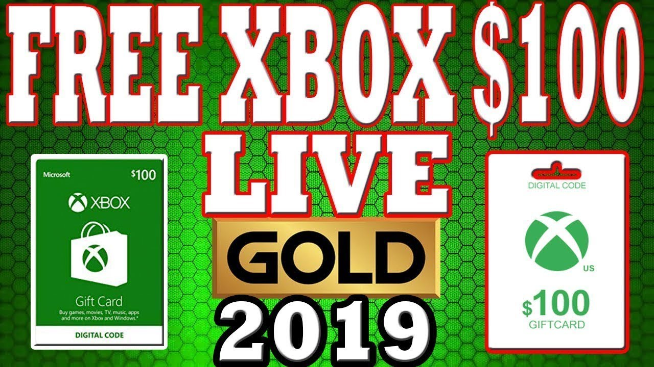 Free Xbox Gift Card Codes Live 2019 (cards) *Last Update