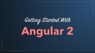 angular 2 quickstart tutorial 2016