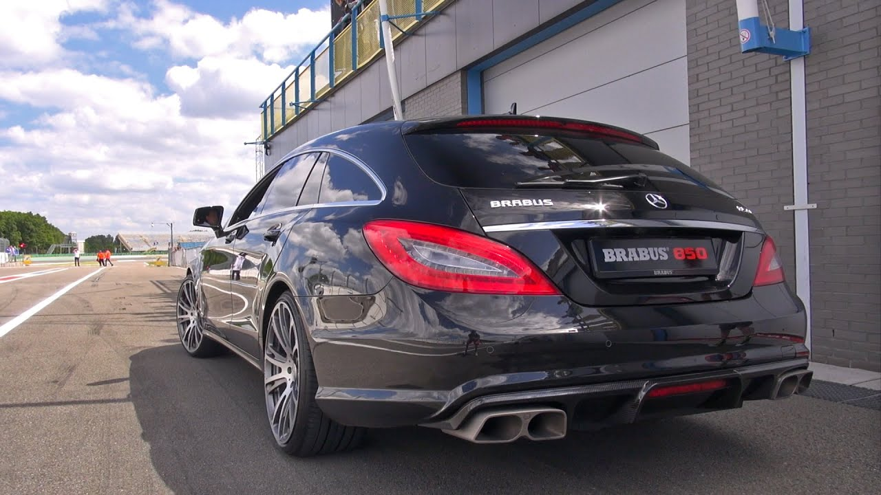 Brabus 850 6 0 Biturbo Cls Shooting Brake Brutal Sounds Youtube