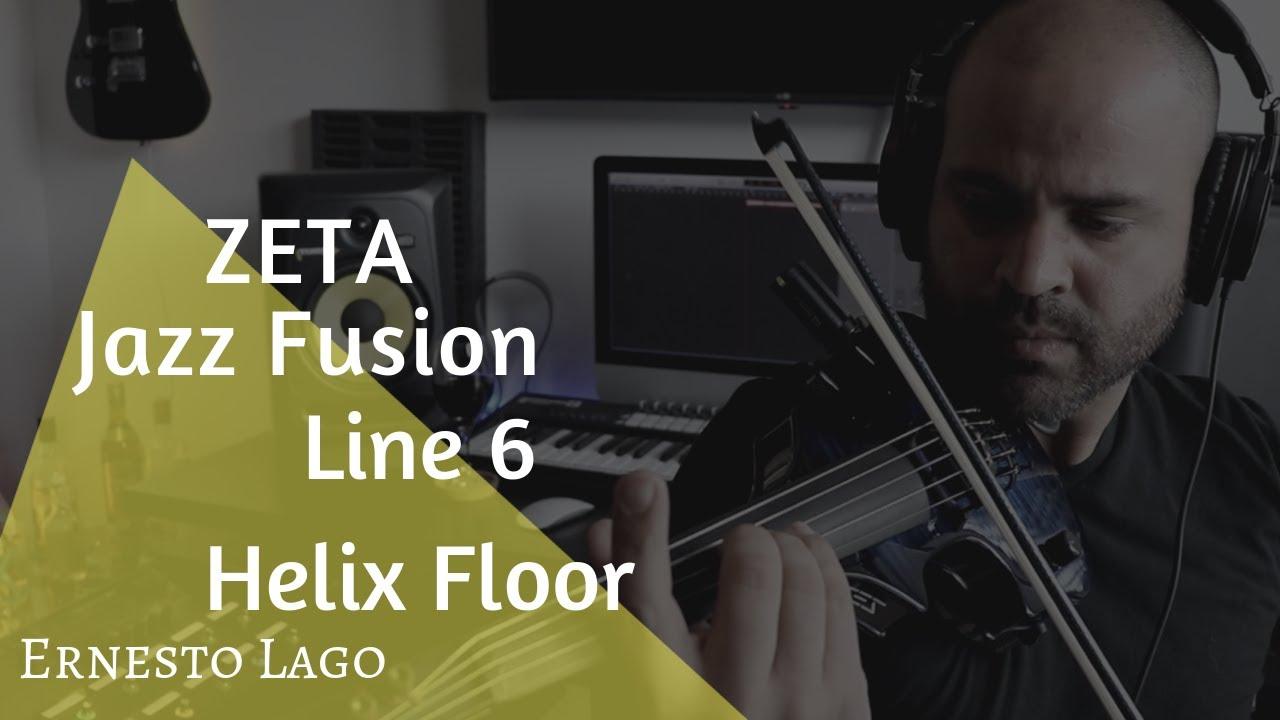 ZETA Jazz Fusion MIDI Violin + Line 6 Helix Floor