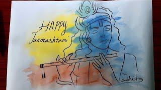 Happy janmashtami drawing in 5 minute// #janmashtamidrawing